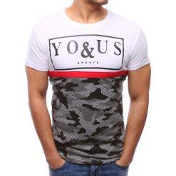 T-shirty męskie z nadrukiem: T-shirt męski z nadrukiem biały (rx2784)