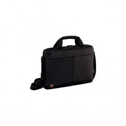 "Torba na laptop Wenger Format 14"", slim  czarna 601079. Czarne torby na laptopa marki Wenger, w paski. Za 217,50 zł."