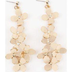 Kolczyki damskie: NA-KD Accessories Kolczyki Flower – Gold