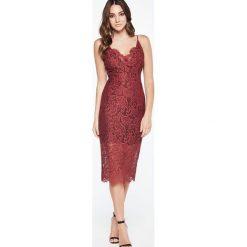 Sukienki hiszpanki: Bardot PENCIL Sukienka koktajlowa burgundy