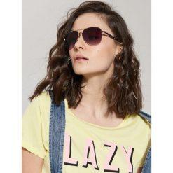 Okulary przeciwsłoneczne damskie aviatory: Okulary przeciwsłoneczne aviatorki – Czarny
