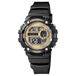Zegarki damskie: Zegarek Q&Q Damski M154-007 Dual Time czarny