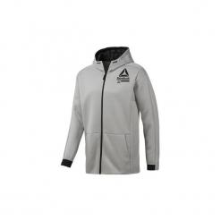 Bluzy dresowe Reebok Sport  Bluza z kapturem Training Spacer Full-Zip. Szare bluzy dresowe męskie Reebok Sport, l, z kapturem. Za 279,00 zł.