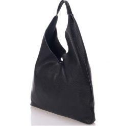 Torebki klasyczne damskie: Skórzana torebka w kolorze czarnym – 45 x 36 x 5 cm