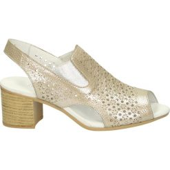 Sandały damskie: Sandały – 107145 GOLD F