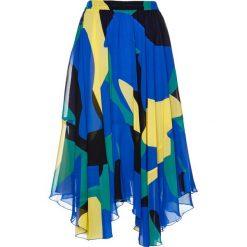 Spódniczki: Spódnica z nadrukiem bonprix lazurowo-czarny z nadrukiem
