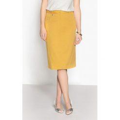 Spódniczki ołówkowe: Prosta, satynowa spódnica z bawełny ze streczem