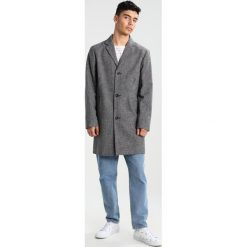 Topman DOGTOOTH Płaszcz wełniany /Płaszcz klasyczny black. Czarne płaszcze na zamek męskie Topman, m, z materiału, klasyczne. W wyprzedaży za 367,20 zł.