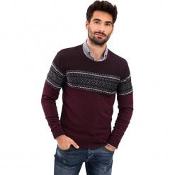 Sweter w kolorze bordowym. Czerwone swetry klasyczne męskie AVVA, Dewberry, m, z okrągłym kołnierzem. Za 219,95 zł.