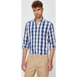 U.S. Polo - Koszula. Szare koszule męskie na spinki marki U.S. Polo, l, w kratkę, z bawełny, button down, z długim rękawem. W wyprzedaży za 299,90 zł.