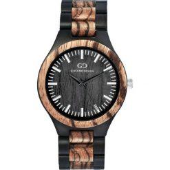 Zegarek Giacomo Design Drewniany Męski GD08301 czarno-brązowy. Brązowe zegarki męskie Giacomo Design. Za 396,99 zł.