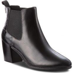 Botki GEOX - D N.Lucinda A D84AMA 0436Y C9999 Black. Czarne buty zimowe damskie Geox, ze skóry ekologicznej, na obcasie. Za 629,00 zł.