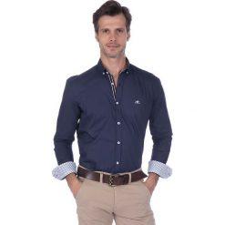 """Koszule męskie na spinki: Koszula """"Pinhigh"""" w kolorze granatowym"""