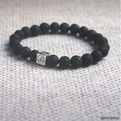 Męska bransoletka :: OM :: black lava. Czarne bransoletki męskie marki Pakamera, metalowe. Za 62,00 zł.
