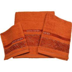 Kąpielówki męskie: 3-częściowy zestaw ręczników w kolorze pomarańczowym