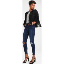 New Look HIRISE BUST FRAY HEM STEPHA Jeans Skinny Fit blue. Czarne jeansy damskie relaxed fit marki New Look, z materiału, na obcasie. Za 149,00 zł.