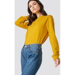 NA-KD Basic Bluza basic - Yellow. Różowe bluzy damskie marki NA-KD Basic, prążkowane. Za 80,95 zł.