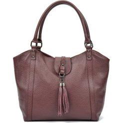 Torebki i plecaki damskie: Skórzana torebka w kolorze bordowym – (S)30 x (W)45 x (G)12 cm
