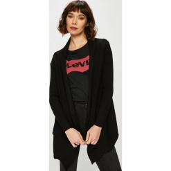 Guess Jeans - Sweter. Szare kardigany damskie marki Guess Jeans, na co dzień, l, z aplikacjami, z bawełny, casualowe, z okrągłym kołnierzem, mini, dopasowane. Za 549,90 zł.