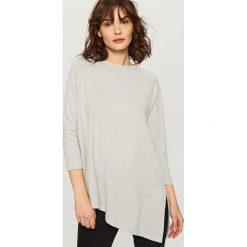Bluzki, topy, tuniki: Asymetryczna koszulka – Jasny szar