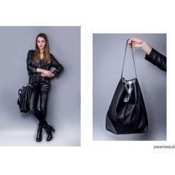 Torba basic czarna krata. Czarne torebki klasyczne damskie marki Pakamera, ze skóry. Za 130,00 zł.