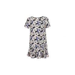 Sukienki krótkie Suncoo  CONSTANCE. Szare sukienki mini marki Suncoo, l, z krótkim rękawem. Za 335,20 zł.