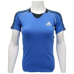 Adidas Koszulka damska Pres S/S Tee niebieska r. 40. Niebieskie bluzki damskie Adidas, s. Za 64,78 zł.