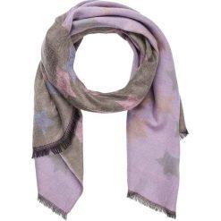 Szaliki damskie: Szal w kolorze fioletowo-szarobrązowym – 190 x 60 cm