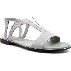 Rzymianki damskie: Sandały damskie wsuwane szare Jezzi