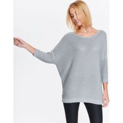 Swetry klasyczne damskie: DAMSKI BŁYSZCZĄCY SWETER O LUŹNYM KROJU
