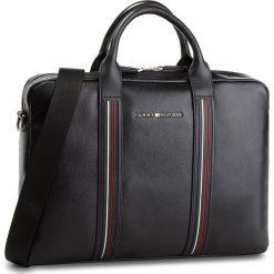 Torba na laptopa TOMMY HILFIGER - Inlay Leather Comput AW0AW03603  002. Czarne torby na laptopa marki TOMMY HILFIGER, ze skóry ekologicznej. W wyprzedaży za 729,00 zł.