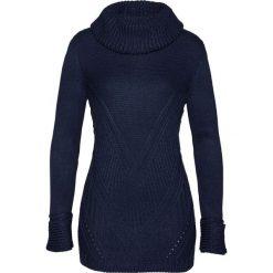 Sweter bonprix ciemnoniebieski. Niebieskie golfy damskie bonprix. Za 99,99 zł.