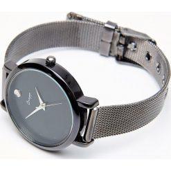 Zegarki damskie: Zegarek na cienkiej bransoletce – Czarny