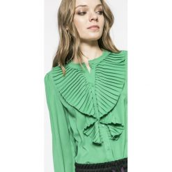 Only - Bluzka. Zielone bluzki asymetryczne ONLY, s, z materiału, eleganckie. W wyprzedaży za 79,90 zł.