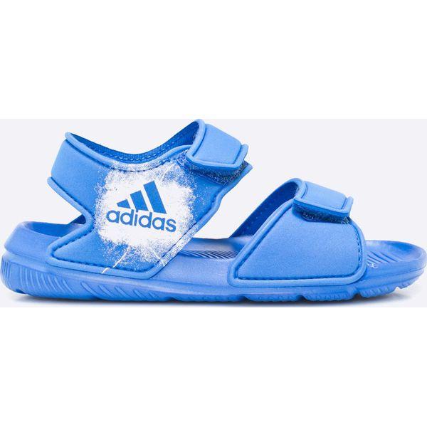 b2a6cabbb280cf adidas Performance - Sandały dziecięce AltaSwim - Niebieskie sandały ...