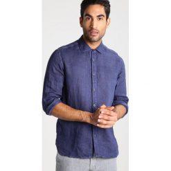 Koszule męskie na spinki: 120% Lino SLIM FIT Koszula dark blue