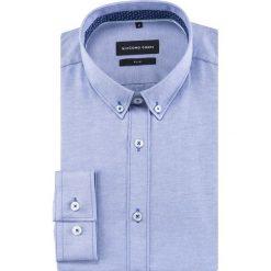 Koszula SIMONE slim KDNS000479. Czarne koszule męskie na spinki marki TOM TAILOR DENIM, l, z bawełny, button down, z długim rękawem. Za 169,00 zł.