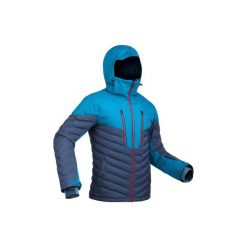 Kurtka narciarska SKI-P JKT 900 WARM męska. Niebieskie kurtki męskie puchowe WED'ZE, m, z puchu. Za 599,99 zł.