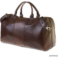 Skórzana torba podróżna walizka na ramię. Brązowe torby na ramię męskie marki Kazar, ze skóry, przez ramię, małe. Za 600,00 zł.