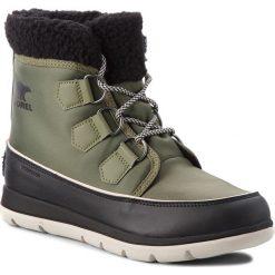 Śniegowce SOREL - Explorer Carnival NL3040 Hiker Green 371. Zielone buty zimowe damskie Sorel, z gumy. Za 529,99 zł.