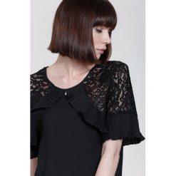 Bluzki damskie: Czarna Bluzka  Arm Lace