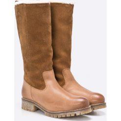 S. Oliver - Kozaki. Szare buty zimowe damskie marki S.Oliver, z gumy. W wyprzedaży za 199,90 zł.