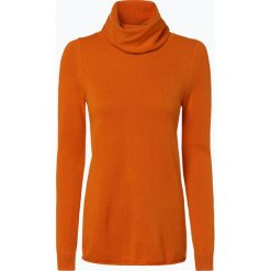 Marie Lund - Damski sweter z wełny merino, pomarańczowy. Brązowe golfy damskie Marie Lund, l, z dzianiny. Za 229,95 zł.