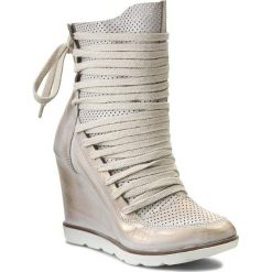 Botki R.POLAŃSKI - 745/L Złoty Przecierany. Żółte buty zimowe damskie R.Polański, ze skóry. W wyprzedaży za 259,00 zł.