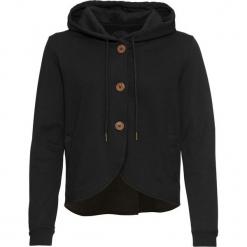 Bluza rozpinana bawełniana bonprix czarny. Czarne bluzy rozpinane damskie marki bonprix, z bawełny. Za 129,99 zł.