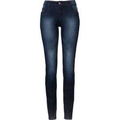 Wygodne dżinsy ze stretchem SKINNY bonprix ciemnoniebieski. Niebieskie jeansy damskie marki House, z jeansu. Za 59,99 zł.