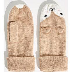 Rękawiczki z jednym palcem - Beżowy. Brązowe rękawiczki damskie Sinsay. Za 24,99 zł.