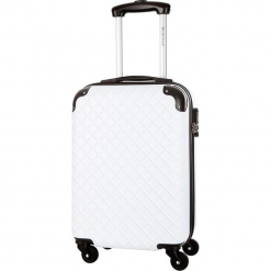 Walizka w kolorze białym - 36 l. Białe walizki marki Platinium, z materiału. W wyprzedaży za 179,95 zł.