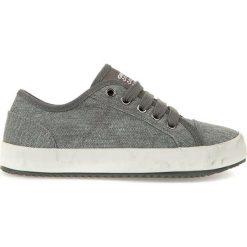 """Sneakersy """"Alonisso"""" w kolorze szarym. Niebieskie trampki chłopięce marki geox kids, z gumy. W wyprzedaży za 125,95 zł."""