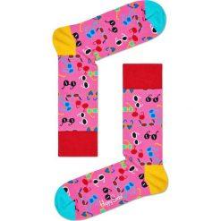 Happy Socks - Skarpetki Shades. Różowe skarpetki damskie Happy Socks, z bawełny. W wyprzedaży za 29,90 zł.